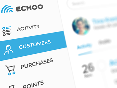 CRM Sidebar sidebar menu dashboard echoo echo crm