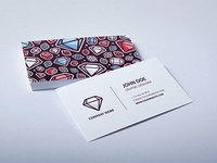 Business Card - Colored Diamond