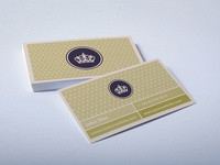 Business Cards - Luxury Royal Gold Pattern
