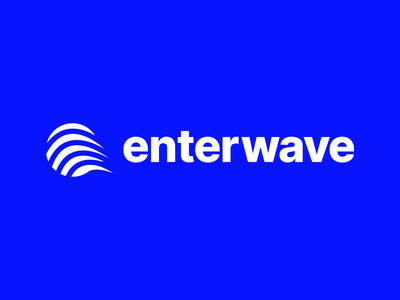 Enterwave vector illustration design branding logomark brand concept identity logo
