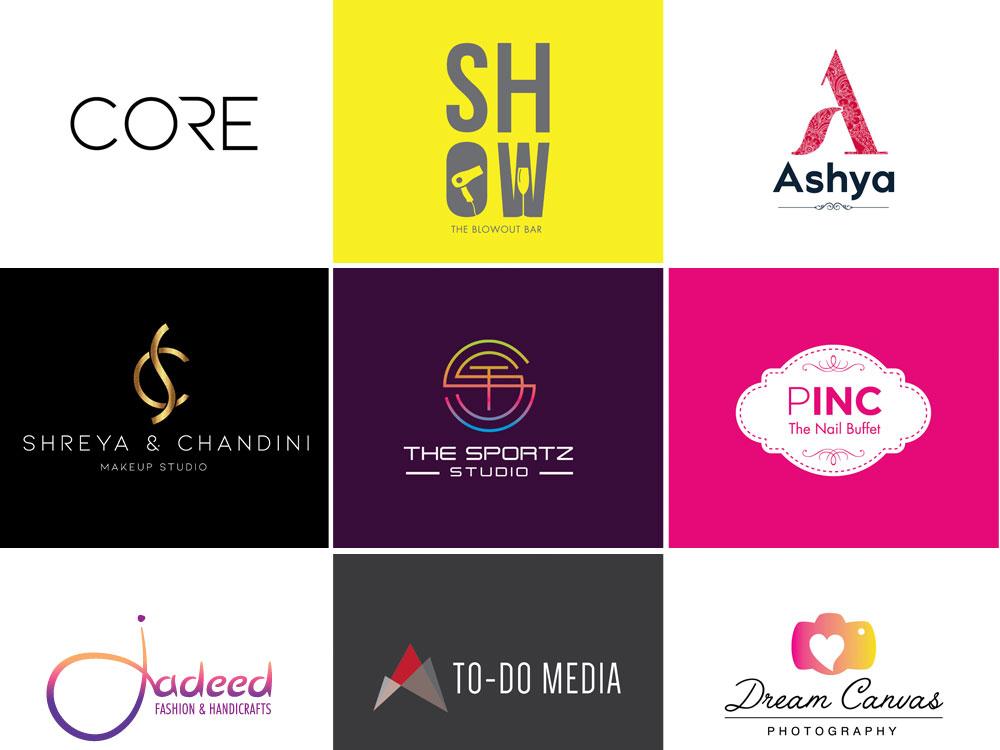 Logos vector flat design branding typography logo