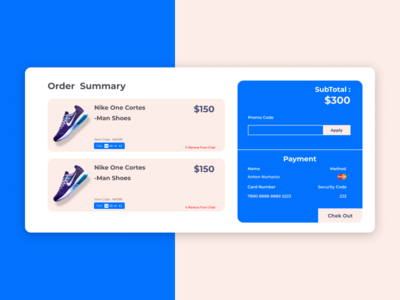 #DailyUI 002 - credit card checkout