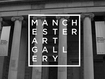 Manchester Art Gallery Rebrand brand wordmark identity rebrand logo branding