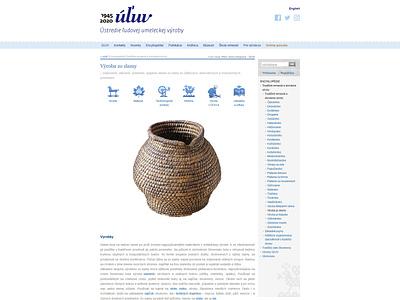 Encyklopédie ÚĽUV web design