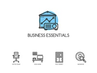**Freebie** 32 Business Essentials Icons
