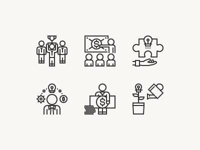 Business Motivation teamwork motivation management opportunity thinking positive training workflow communication employee icon vector
