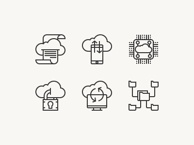 Cloud Technology wireless content storage server technology creative data computer cloud icon vector