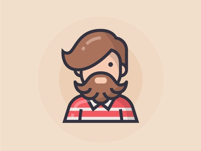 Hipster beard man people illustration character hipster icon