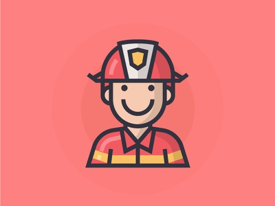 Firefighter vector firefighter man people illustration character icon