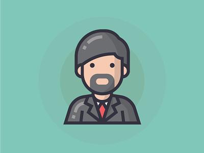 Businessman illustrator business businessman boss man people illustration character icon
