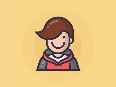Student student illustrator man people illustration character icon