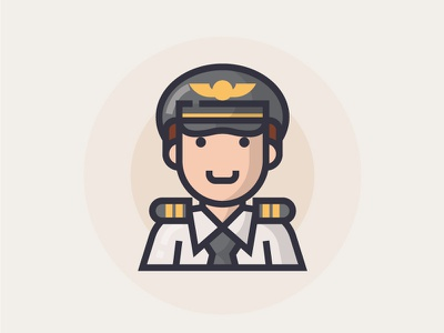 Captain captain illustrator man people illustration character icon