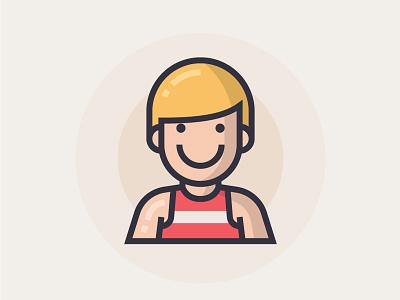 Runner runner illustrator man people illustration character icon