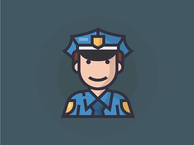 Police police illustrator man people illustration character icon