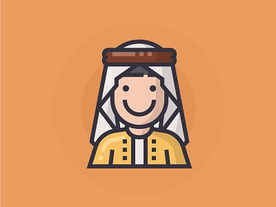 Arabian arabian illustrator man people illustration character icon