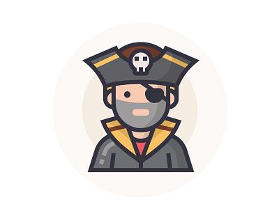 Pirate pirate illustrator man people illustration character icon