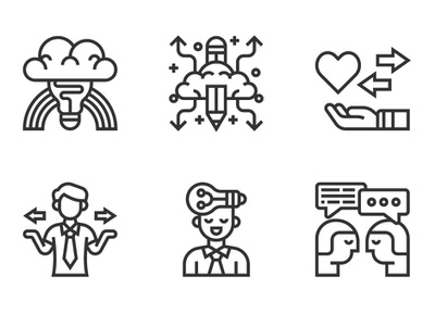 Mind Process service management innovation mind illustration people analysis marketing business character icon