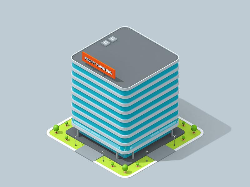 LogicSource - We See Profit All Around You - Building business building motion graphics motion designer motion design motion isometric 3d illustration illustration c4d cinema 4d