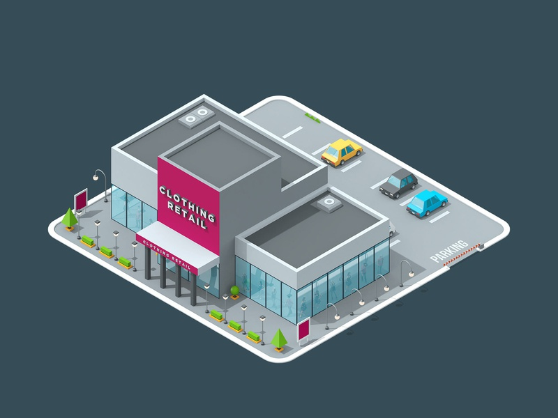 LogicSource - We See Profit All Around You - Clothing building shop store motion graphics motion designer motion design motion isometric isometric illustration isometric building 3d illustration illustration c4d cinema 4d