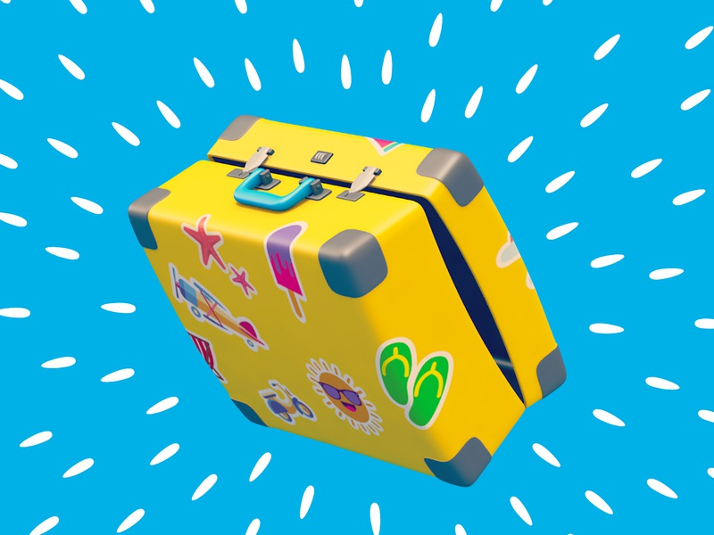 ZORAQ - Packing your suitcase, is all you need to do! - Cover suitcase luggage tv commercial traveling 3d illustration illustration c4d cinema 4d motion graphics motion designer motion design motion