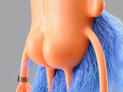 Mr Bumfluff - Butt details