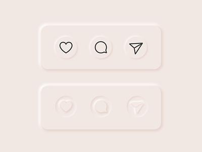 Instagram Buttons 2020 trends uidesign instagram buttons icon ui neumorphism neumorphosis