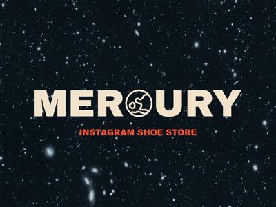 Instagram shoe store Mercury branding