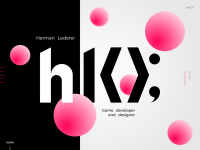 My portfolio design mock-up V1