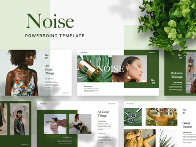 NOISE Powerpoint Template ui pptx slide google slide keynote ppt presentation layout deck pitch powerpoint template presentation