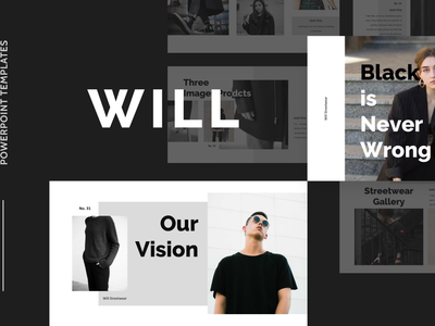 WILL Powerpoint Template layout simple black will pitch deck template presentation layout presentation slide pitch pptx ppt powerpoint keynote google slide deck