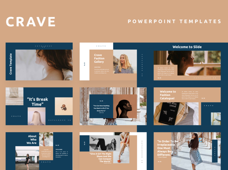 CRAVE Powerpoint Template tosca simple fashion crave presentation layout template pitch slide presentation pptx ppt powerpoint keynote google slide deck