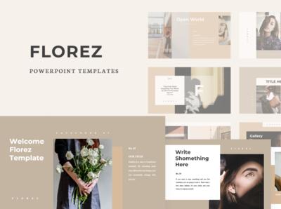 Florez PPT Cover  Creative Market