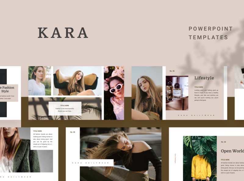 KARA Powerpoint Template pastle kara fashion elegant simple presentation layout pitch template slide presentation ppt pptx powerpoint keynote google slide deck