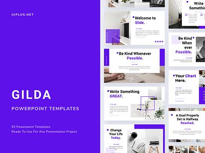 GILDA Powerpoint Template layout design fashion simple pastle layout pitch template presentation slide pptx ppt powerpoint keynote google slide deck
