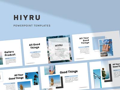 HIYRU Powerpoint Template hiyru layout design fashion layout pitch template slide presentation pptx ppt powerpoint keynote google slide deck