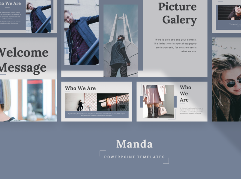 MANDA Powerpoint Template manda pastle simple fashion layout pitch slide template presentation pptx ppt powerpoint keynote google slide deck