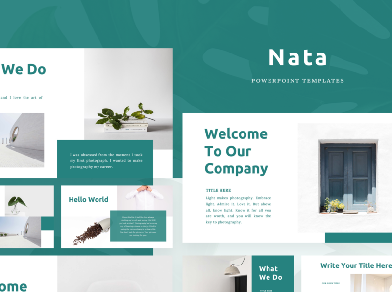 NATA Powerpoint Template product shirt model creative tosca elegant simple nata fashion presentation layout pitch template slide presentation pptx ppt powerpoint keynote google slide deck