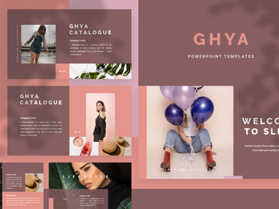 GHYA Powerpoint Template preview elegant fashion simple presentation layout pitch template slide presentation pptx ppt powerpoint keynote google slide deck