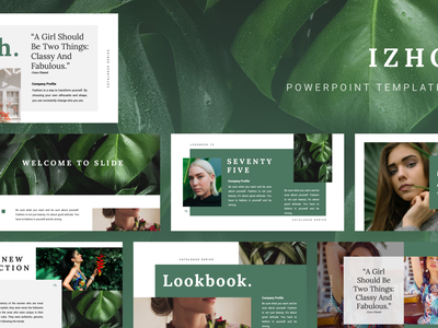 IZHO Powerpoint Template izho elegant simple fashion presentation layout pitch template slide presentation pptx ppt powerpoint keynote google slide deck