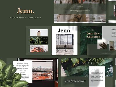 JENN Powerpoint Template fashion presentation layout pitch template slide presentation pptx ppt powerpoint keynote google slide deck