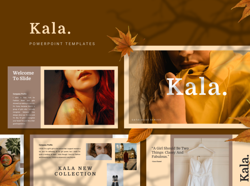 KALA Powerpoint Template elegant simple fashion presentation layout pitch template slide presentation pptx ppt powerpoint keynote google slide deck