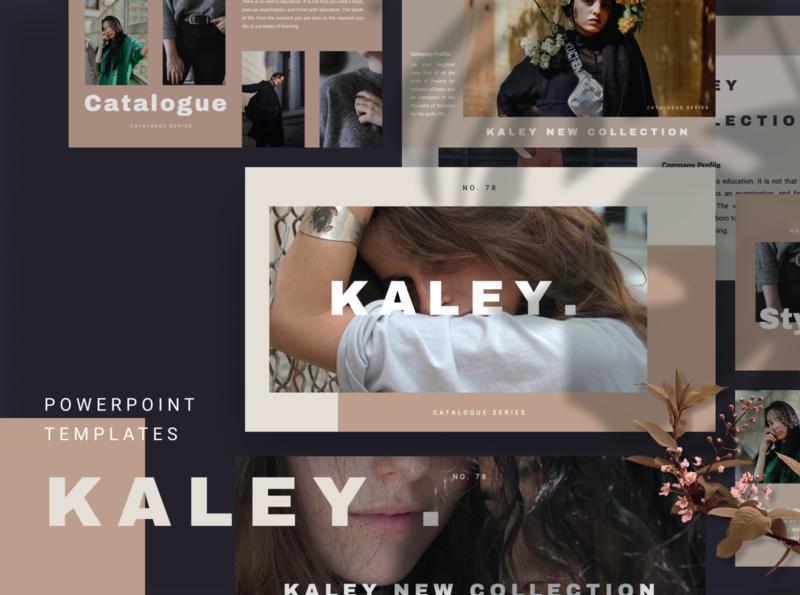Kaley Powerpoint Template fashion brand kaley elegant simple fashion presentation layout pitch template slide presentation pptx ppt powerpoint keynote google slide deck