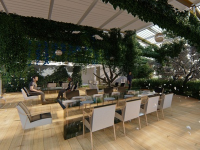 Utopian Farm dining interiordesign render design