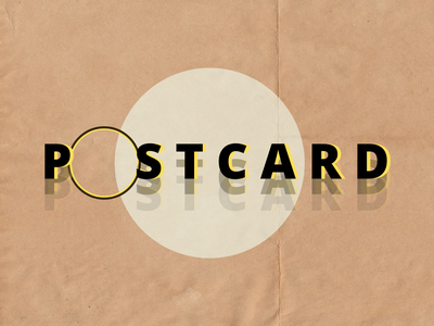 For the love of postcards typogaphy type illustration