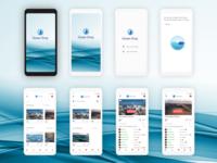 UX/UI Mobile App  Ocean Drop iphone white iphone mockup white iphone mockup