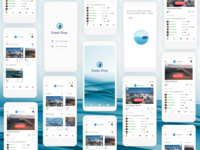 UX/UI Mobile App (white iPhone mockup) Ocean Drop mobile apps iphone mockup mobile application iphone white iphone mockup mobile app