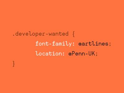 Job advert via coding language
