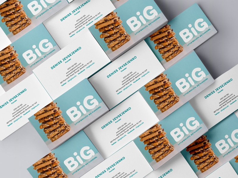 Photos on business cards healthy blue graphic design tyler hendy biscuits business cards