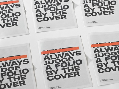 Always judge a folio by it's cover