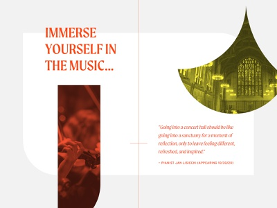 Princeton University Concerts Detail layout minimal classical music princeton university website ui